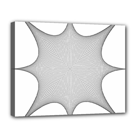 Star Grid Curved Curved Star Woven Canvas 14  X 11