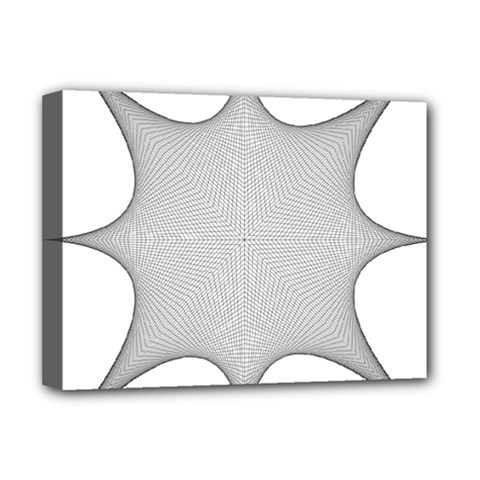 Star Grid Curved Curved Star Woven Deluxe Canvas 16  X 12