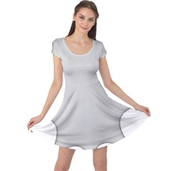 Star Grid Curved Curved Star Woven Cap Sleeve Dress
