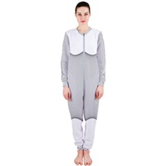 Star Grid Curved Curved Star Woven Onepiece Jumpsuit (ladies)