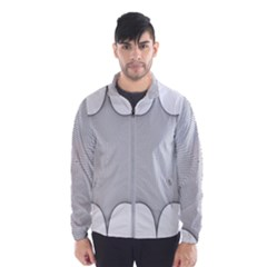 Star Grid Curved Curved Star Woven Wind Breaker (men)