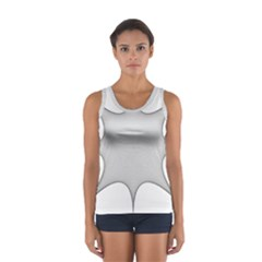 Star Grid Curved Curved Star Woven Sport Tank Top