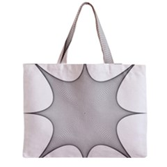 Star Grid Curved Curved Star Woven Medium Tote Bag