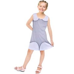 Star Grid Curved Curved Star Woven Kids  Tunic Dress