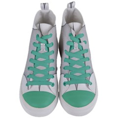 Star Grid Curved Curved Star Woven Women s Mid Top Canvas Sneakers