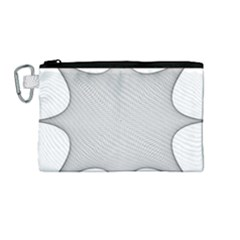 Star Grid Curved Curved Star Woven Canvas Cosmetic Bag (medium)