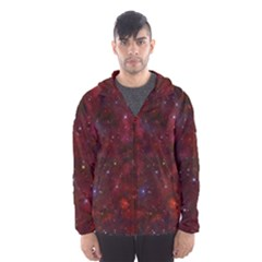 Abstract Fantasy Color Colorful Hooded Wind Breaker (men)