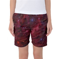 Abstract Fantasy Color Colorful Women s Basketball Shorts