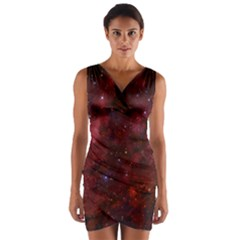 Abstract Fantasy Color Colorful Wrap Front Bodycon Dress