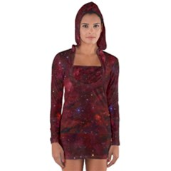 Abstract Fantasy Color Colorful Long Sleeve Hooded T Shirt
