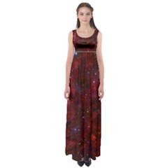 Abstract Fantasy Color Colorful Empire Waist Maxi Dress