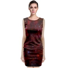 Abstract Fantasy Color Colorful Classic Sleeveless Midi Dress