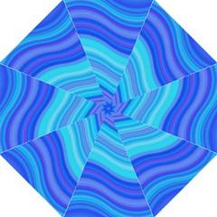 Blue Background Water Design Wave Golf Umbrellas