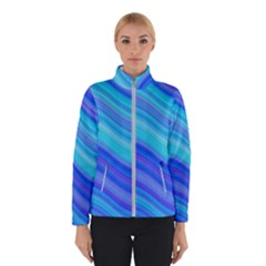 Blue Background Water Design Wave Winterwear