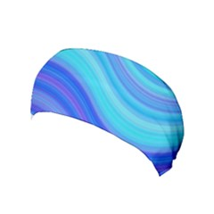 Blue Background Water Design Wave Yoga Headband