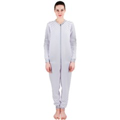 Background Line Motion Curve Onepiece Jumpsuit (ladies)