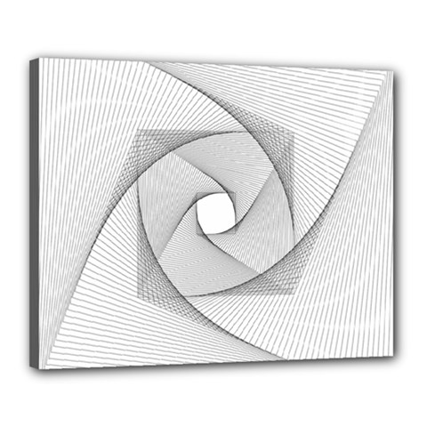 Rotation Rotated Spiral Swirl Canvas 20  X 16
