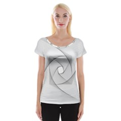 Rotation Rotated Spiral Swirl Cap Sleeve Tops