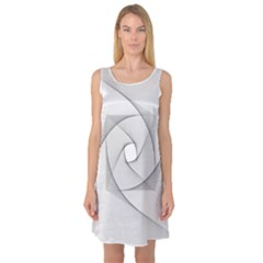 Rotation Rotated Spiral Swirl Sleeveless Satin Nightdress