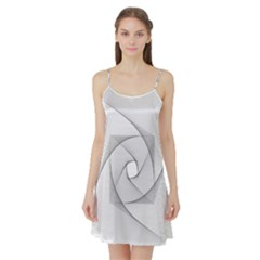Rotation Rotated Spiral Swirl Satin Night Slip