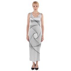 Rotation Rotated Spiral Swirl Fitted Maxi Dress