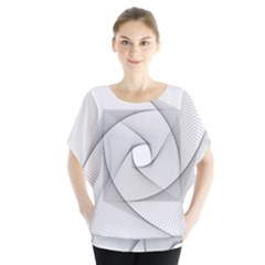Rotation Rotated Spiral Swirl Blouse