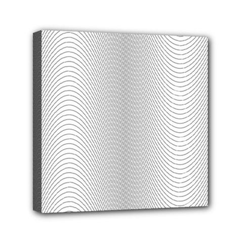 Monochrome Curve Line Pattern Wave Canvas Travel Bag