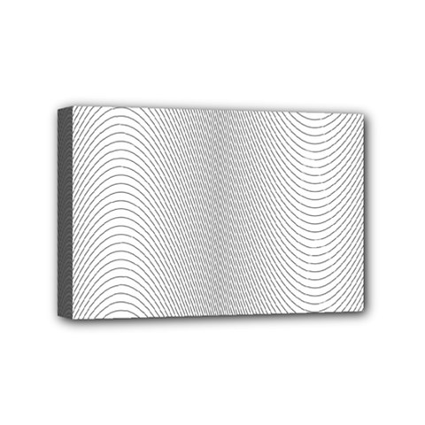 Monochrome Curve Line Pattern Wave Mini Canvas 6  X 4