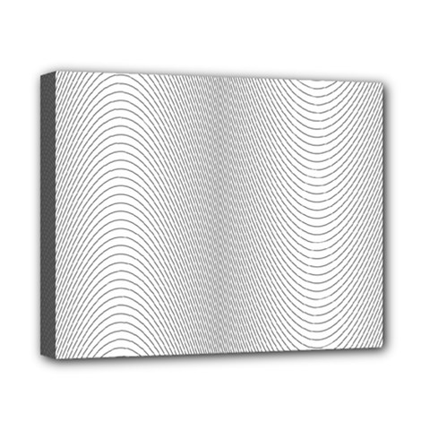 Monochrome Curve Line Pattern Wave Canvas 10  X 8
