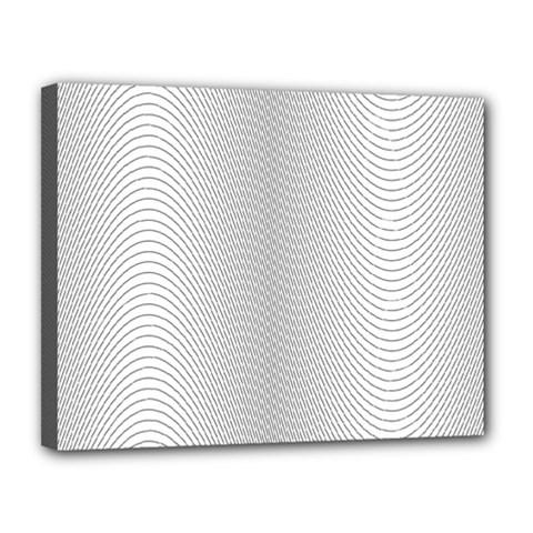 Monochrome Curve Line Pattern Wave Canvas 14  X 11