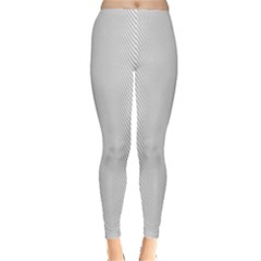 Monochrome Curve Line Pattern Wave Leggings