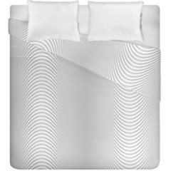 Monochrome Curve Line Pattern Wave Duvet Cover Double Side (king Size)