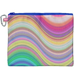 Wave Background Happy Design Canvas Cosmetic Bag (xxxl)