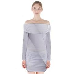 Background Pattern Stripe Long Sleeve Off Shoulder Dress