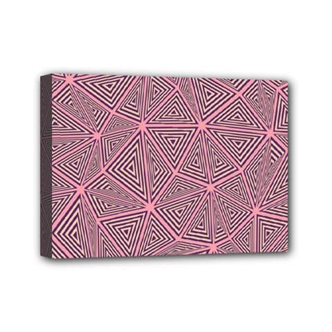 Triangle Background Abstract Mini Canvas 7  X 5