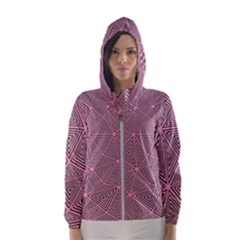 Triangle Background Abstract Hooded Wind Breaker (women)