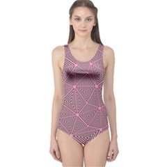 Triangle Background Abstract One Piece Swimsuit