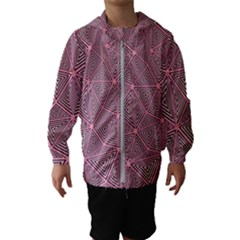 Triangle Background Abstract Hooded Wind Breaker (kids)
