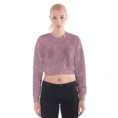 Triangle Background Abstract Cropped Sweatshirt
