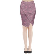 Triangle Background Abstract Midi Wrap Pencil Skirt