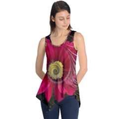 Fantasy Flower Fractal Blossom Sleeveless Tunic