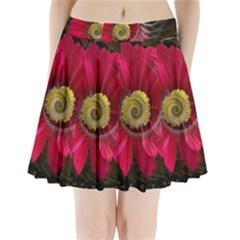Fantasy Flower Fractal Blossom Pleated Mini Skirt