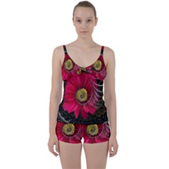 Fantasy Flower Fractal Blossom Tie Front Two Piece Tankini