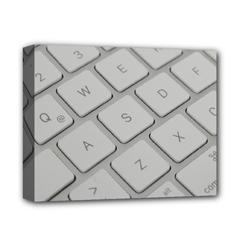Keyboard Letters Key Print White Deluxe Canvas 14  X 11