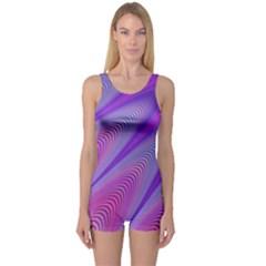Purple Star Sun Sunshine Fractal One Piece Boyleg Swimsuit