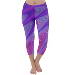Purple Star Sun Sunshine Fractal Capri Winter Leggings