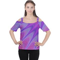 Purple Star Sun Sunshine Fractal Cutout Shoulder Tee