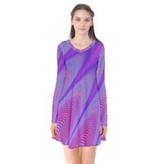 Purple Star Sun Sunshine Fractal Flare Dress