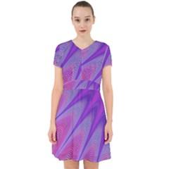 Purple Star Sun Sunshine Fractal Adorable In Chiffon Dress