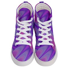 Purple Star Sun Sunshine Fractal Men s Hi Top Skate Sneakers